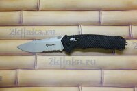 Ganzo (G716-S) складной нож с полусеррейторным клинком
